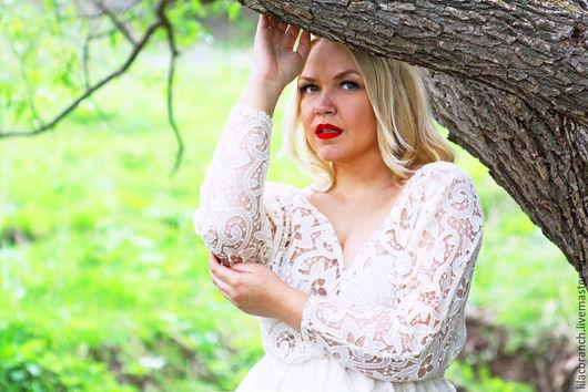 """Платья ручной работы. Ярмарка Мастеров - ручная работа. Купить Платье """" Кружэль"""". Handmade. Белый, платье коктейльное, курорт"""