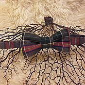 Аксессуары ручной работы. Ярмарка Мастеров - ручная работа Галстук-бабочка из 100% шерсти. Handmade.