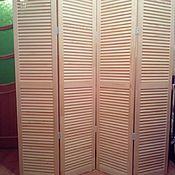 Ширмы ручной работы. Ярмарка Мастеров - ручная работа Ширма жалюзийного типа из 4х створок 180на40. Handmade.