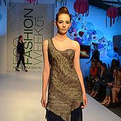 Одежда ручной работы. Ярмарка Мастеров - ручная работа Вечернее платье с ассиметричным кроем. Handmade.
