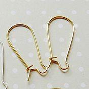 Материалы для творчества handmade. Livemaster - original item Earring loops for GOLD (Ref. 564). Handmade.