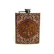 Сувениры и подарки handmade. Livemaster - original item Flask made of birch bark