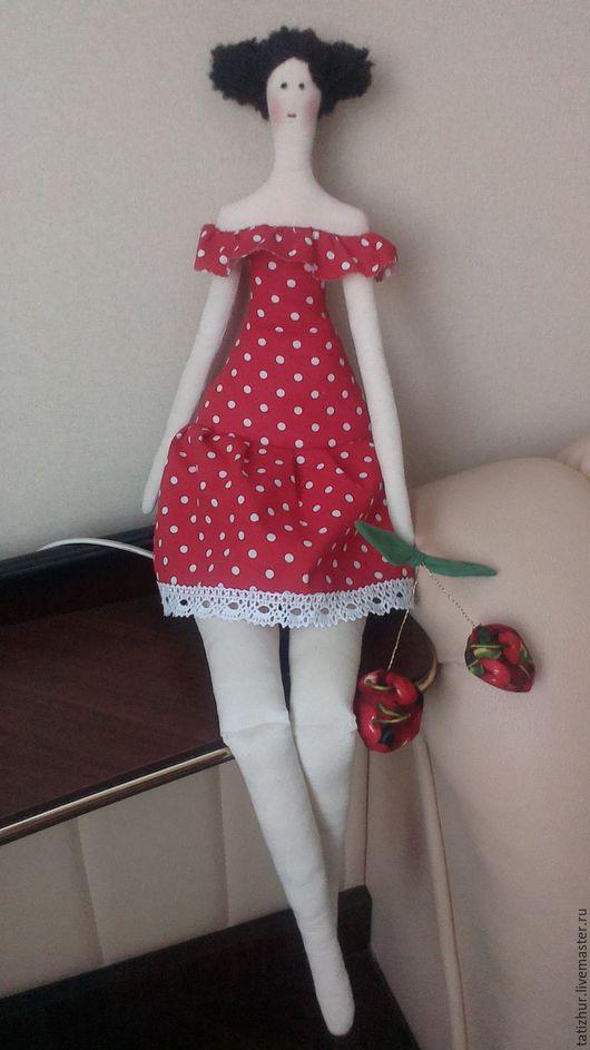 Куклы Тильды ручной работы. Ярмарка Мастеров - ручная работа. Купить Тильдочка. Handmade. Ярко-красный, кукла интерьерная