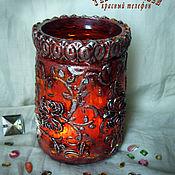 Для дома и интерьера handmade. Livemaster - original item Lamp vase COPPER and SILVER. Handmade.