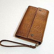 Сумки и аксессуары handmade. Livemaster - original item Women`s leather wallet. Clutch. Big purse.. Handmade.