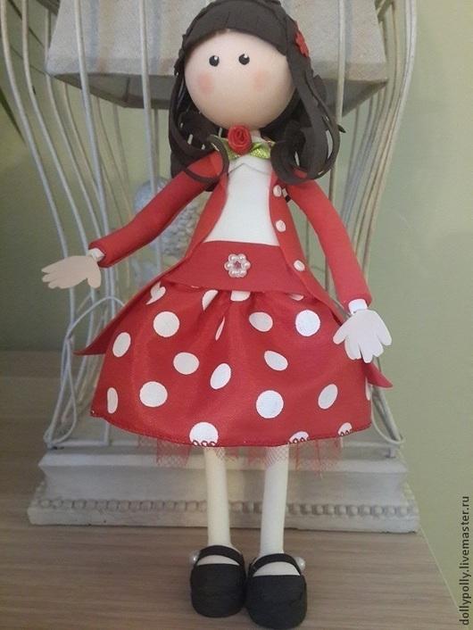 Коллекционные куклы ручной работы. Ярмарка Мастеров - ручная работа. Купить Софи. Handmade. Ярко-красный, кукла в подарок