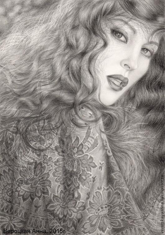 """Люди, ручной работы. Ярмарка Мастеров - ручная работа. Купить """"Портрет по фото карандашом"""". Handmade. Чёрно-белый, портрет"""