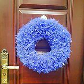 Интерьерные венки ручной работы. Ярмарка Мастеров - ручная работа Венки: рождественские венки на дверь. Handmade.
