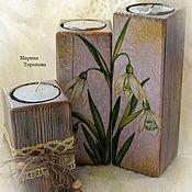 Для дома и интерьера handmade. Livemaster - original item Set of candle holders