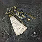 Украшения handmade. Livemaster - original item Brooch - pin with brush and agate. Handmade.