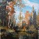 Пейзаж ручной работы. Ярмарка Мастеров - ручная работа. Купить картина Река Пур осенью.. Handmade. Разноцветный, картина маслом