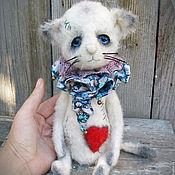 Куклы и игрушки ручной работы. Ярмарка Мастеров - ручная работа котенок тедди Тася. Teddy bear and friends  котенок тедди котик тедди. Handmade.