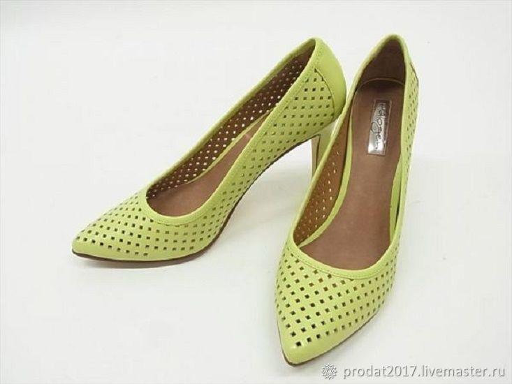 Винтажная обувь. Ярмарка Мастеров - ручная работа. Купить Винтаж: Туфли женские мята. Handmade. Выпускной бал, винтажная вещь