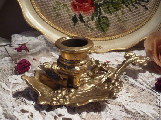 Винтажные предметы интерьера. Ярмарка Мастеров - ручная работа. Купить Подсвечник антикварный, старинный, бронза, медь, Австрия-Германия. Handmade.