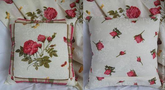 Текстиль, ковры ручной работы. Ярмарка Мастеров - ручная работа. Купить Наволочка на подушку Розы. Handmade. Бежевый, наволочки на подушки