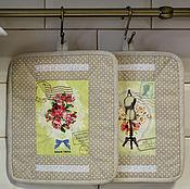 Для дома и интерьера ручной работы. Ярмарка Мастеров - ручная работа Прихватки в стиле ретро. Handmade.