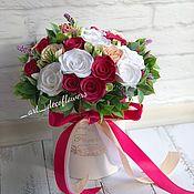 Цветы ручной работы. Ярмарка Мастеров - ручная работа Цветы в шляпной коробки. Handmade.