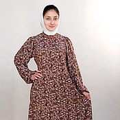 Одежда ручной работы. Ярмарка Мастеров - ручная работа Платье штапельное в русском стиле. Handmade.