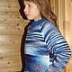 """Одежда для девочек, ручной работы. Ярмарка Мастеров - ручная работа. Купить Свитер """"Северное Сияние"""" шерстяной вязаный детский. Handmade."""