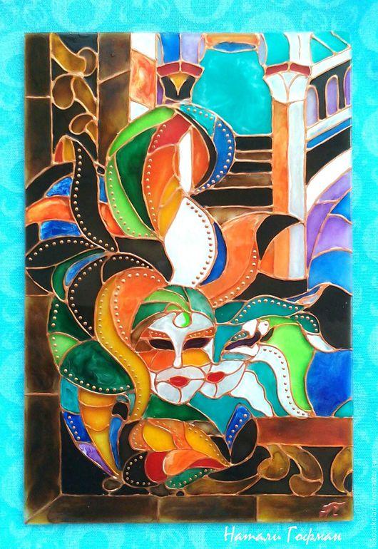 Открытки витражная роспись на стекле Венеция