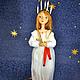 Коллекционные куклы ручной работы. Санта Люсия. Радуга Гульнара Мухтарова (Rainbow-Dolls). Ярмарка Мастеров. Кукла ручной работы