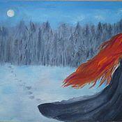 """Картины и панно ручной работы. Ярмарка Мастеров - ручная работа Картина """"Таинственный лес"""" (рыжая фея). Handmade."""