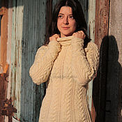 handmade. Livemaster - original item Cream-colored purebred sweater. Handmade.