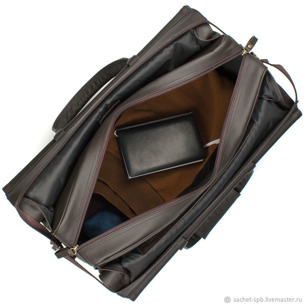 leather travel bag harry brown shop online on livemaster with