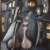 Картины и панно ручной работы. Ярмарка Мастеров - ручная работа Резное дерево_Свидание. Handmade.