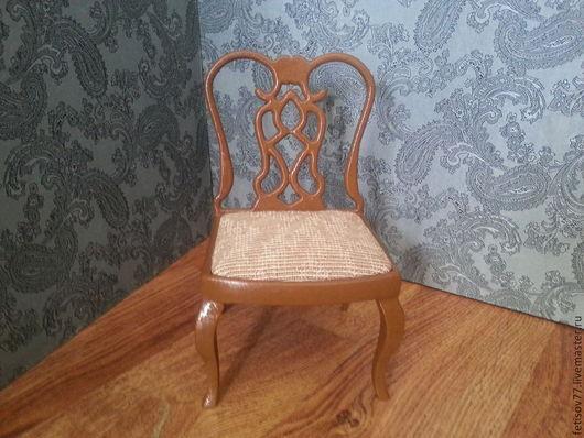 Кукольный дом ручной работы. Ярмарка Мастеров - ручная работа. Купить Кукольный стульчик столовый (вариант 4). Handmade.