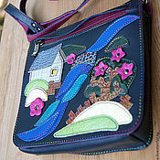 Сумки и аксессуары handmade. Livemaster - original item Small bags with applique on the flap.. Handmade.