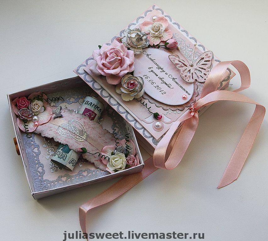 Красивая коробка на свадьбу