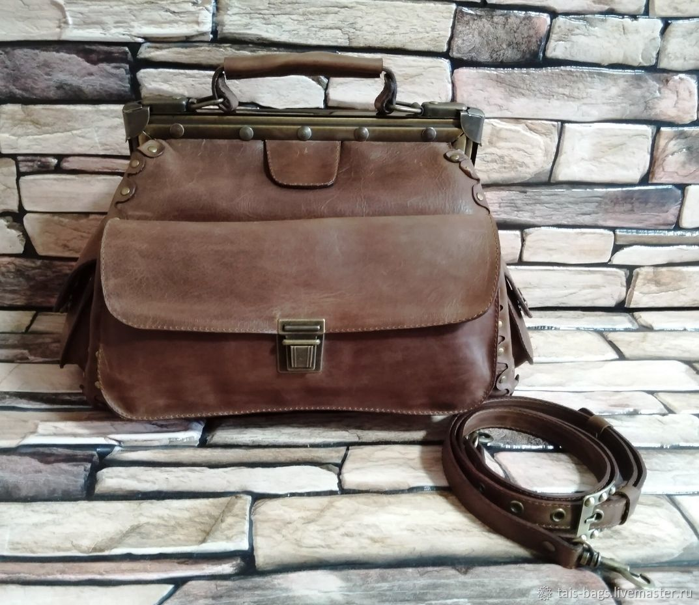 Bag: Women's leather bag ELIZABETH walnut, Valise, Izhevsk,  Фото №1