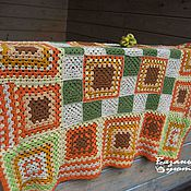 Для дома и интерьера handmade. Livemaster - original item Blankets: Plaid baby blanket, crocheted. Handmade.