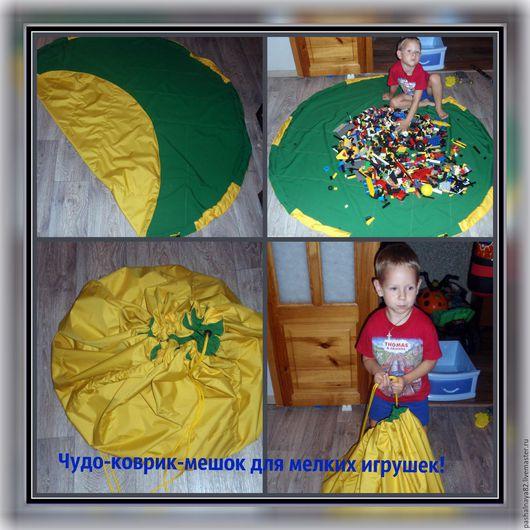 Детская ручной работы. Ярмарка Мастеров - ручная работа. Купить Чудо-коврик. Handmade. Тёмно-зелёный, коврик для детской