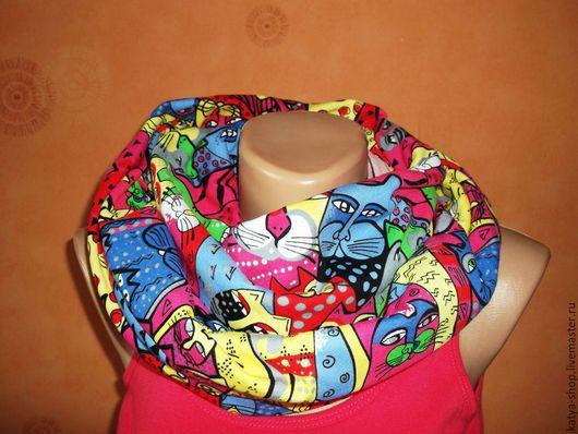 Шарфы и шарфики ручной работы. Ярмарка Мастеров - ручная работа. Купить Снуд шарф труба хомут трикотажный. Handmade.