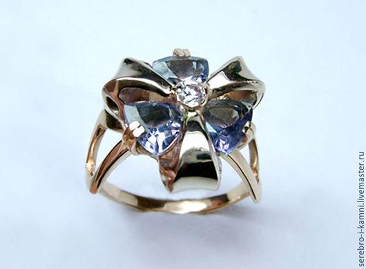 Кольца ручной работы. Ярмарка Мастеров - ручная работа. Купить Кольцо со шпинелью (золото 585) р-р 17,5. Handmade.