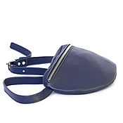 Сумки и аксессуары handmade. Livemaster - original item Bag belt Fanny pack blue. Handmade.