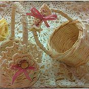 Куклы и игрушки ручной работы. Ярмарка Мастеров - ручная работа Корзиночки миниатюрные для кукол. Handmade.
