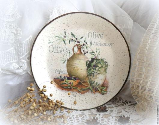 Натюрморт ручной работы. Ярмарка Мастеров - ручная работа. Купить декоративная тарелка на стену в стиле прованс. Handmade. тарелка декупаж