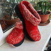 Обувь ручной работы handmade. Livemaster - original item Clogs (clogs) felted.. Handmade.
