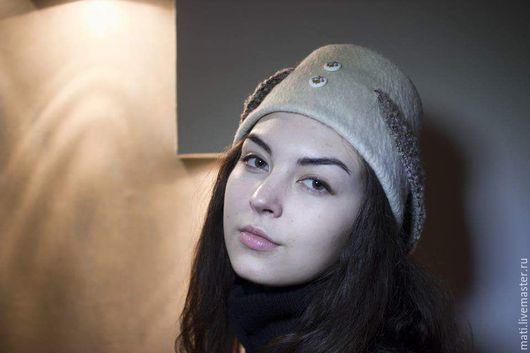 """Шляпы ручной работы. Ярмарка Мастеров - ручная работа. Купить Шляпка-клош """"Совушка"""". Handmade. Белый, стиль ретро"""