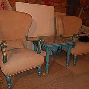 Для дома и интерьера ручной работы. Ярмарка Мастеров - ручная работа кресла для отдыха с чайным столиком. Handmade.