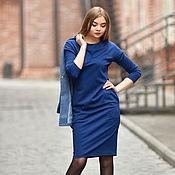Одежда handmade. Livemaster - original item dress basic knitted Daisy dark blue. Handmade.