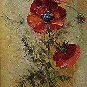 Картины и панно handmade. Livemaster - original item poppies painting. Handmade.