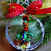 """Подарки к праздникам ручной работы. Ярмарка Мастеров - ручная работа """"Гламурный петух""""елочное украшение символ года. Handmade."""