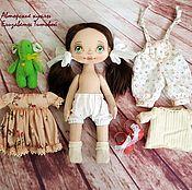 Куклы и игрушки ручной работы. Ярмарка Мастеров - ручная работа Кукла с набором одежды №19. Handmade.