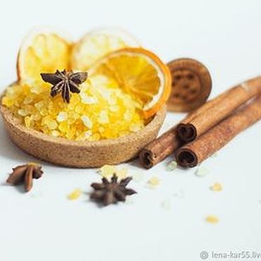 Косметика ручной работы. Ярмарка Мастеров - ручная работа Соль морская для ванны Глинтвейн для двоих желтый. Handmade.