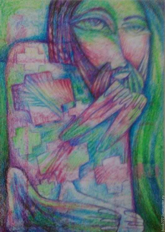 Символизм ручной работы. Ярмарка Мастеров - ручная работа. Купить Небо... Небо надо мною  ( Молящийся Петр ). Handmade.