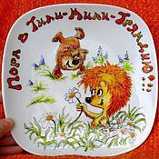 """Посуда ручной работы. Ярмарка Мастеров - ручная работа Сервиз """"Ежик и медвежонок"""". Handmade."""